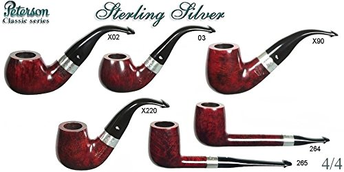 PETERSON PIPA STERLING SILVER SMOOTH - VERA ARGENTO - X220