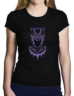 OKAPY Camiseta Black Panther. Una Camiseta de Mujer con la Silueta de Black Panther en Color. Camiseta Friki de...