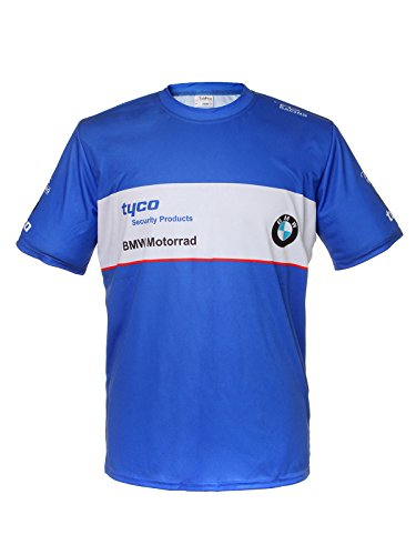 bmw-tyco-motorrad-blue-short-sleeve-cool-t-shirt-auto-car-graphics-tee-l