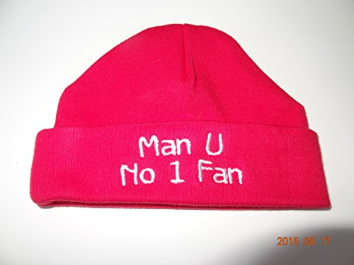 MANCHESTER UNITED NEWBORN BABY HAT - BEAUTIFULLY EMBROIDERED - NO...