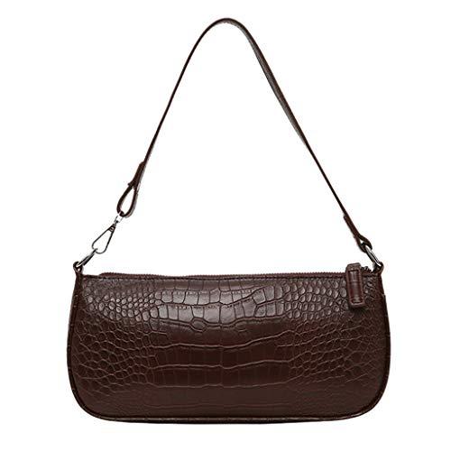 TIFIY Damen Rucksack Women's Retro Damentasche Messenger Bag Ladies Casual Schultertasche Commuter Bag Arbeits Täglich Bankett Elegant Tasche(Braun) -