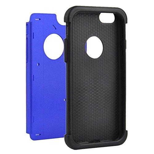 Protection&fashion Starry Pattern Silicone + Plastic Case di combinazione per iPhone 6 Plus & 6S Plus ( Color : Green ) Dark Blue