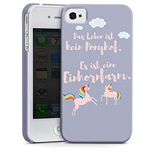 Apple iPhone X Silikon Hülle Case Schutzhülle Einhörner Spruch Ponyhof Premium Case glänzend