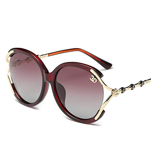 GEETAC Aviator Polarisierte Sonnenbrille Für Frauen UV 400 Schutz Übergroße Driving Party Fashion Damen Sonnenbrille,Red (Wayfarer Ban Frauen Sonnenbrille Ray)