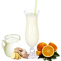 Orange-Ingwer Molkepulver Luxofit mit L-Carnitin Protein angereichert Wellnessdrink Aspartamfrei Molke (Buttermilch Orange-Ingwer, 1 kg)
