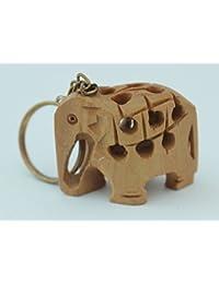 Wooden Elephant Key Chain Set Of 12 Handmade Handicraft For Home Decor Gift Item