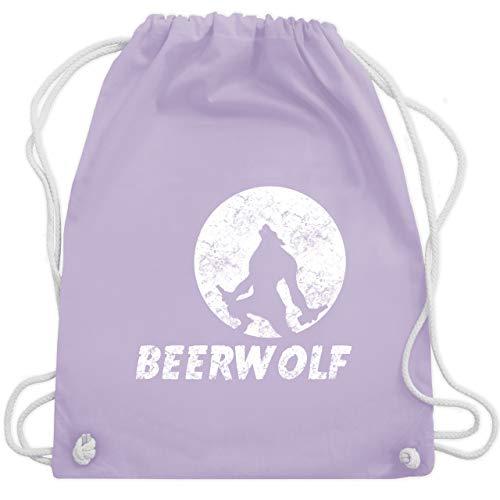 Statement Shirts - Beerwolf - Unisize - Pastell Lila - WM110 - Turnbeutel & Gym Bag