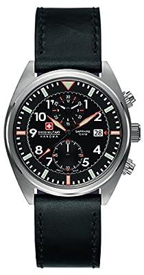 Swiss Military Hanowa 6-4227.04.007 - Reloj de cuarzo, correa de cuero color negro de Swiss Military Hanowa