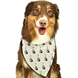 Sdltkhy Pet Bandana Easter Bunny Iamge Washable and Adjustable Triangle Bibs for Pet Cats and Puppies