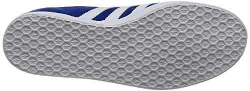 adidas Gazelle, Formatori Bassi Unisex – Adulto Blu (Collegiate Royal/white/gold Metallic)