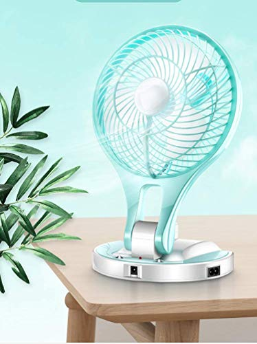 REBORN 5580 New Model Powerful Rechargeable Table Fan with 21Smd Led Lights,Table Fans for Home, Table Fans, Table Fans for Home with Stand, Table Fans High Speed (Random Color)