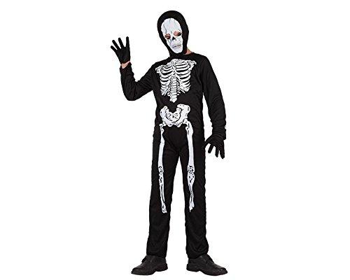Atosa 70330 - Verkleidung Skelett  Gr. (Totenkopf Kind Kostüme Fee)