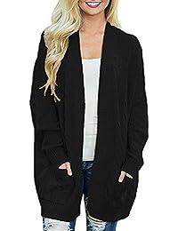 Amazon.es  tallas grandes mujer abrigos - Cárdigans   Jerséis ... ac48fff033df