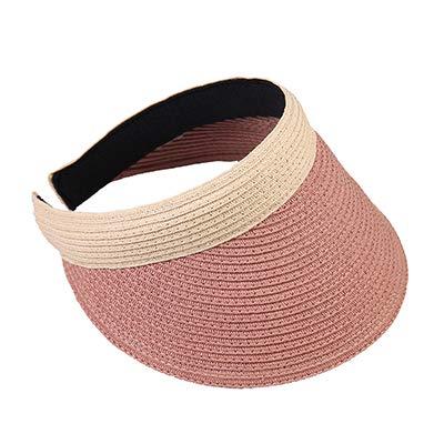 LUHETYM Women's Wide Visor Summer Sun Hat Straw Hats for Women Beach Sun Caps Crochet Straw Cap Hollow Out Sun Hat for LadyLight Coffee 57CMFashion Sun Hat Beach Hats (Hats Crochet Womens)