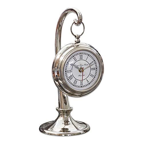 Loberon Uhr Barbe, Aluminium/Glas/Stahl, H/Ø ca. 25/12 cm, Silber