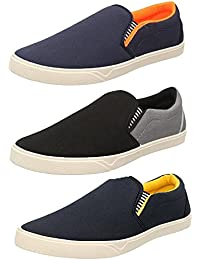 Chevit Men's Synthetic Combo Of 3 Casual Shoes