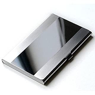 atdoshop Stainless Steel Silver Aluminium Business ID Credit Card Holder Case Cover