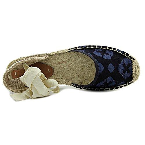 Soludos Sandal Espadrille Toile Espadrille Batik Leaves Turquoise Navy