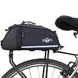BTR Wasserabweisende 8 Liter Gepäckträgertaschen, Fahrradtasche Gepäckträger Tasche. Nur Fahrradtasche (ohne Bezug und Netz)