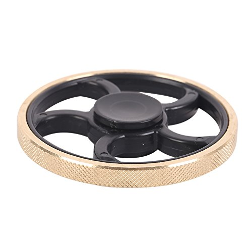 Preisvergleich Produktbild Hand Fidget EDC Spinner Toy, Hankyky Finger Metalic Wheel-shaped Gyro With Gold Metal Edge Spins For 4 minutes - Adults and Children
