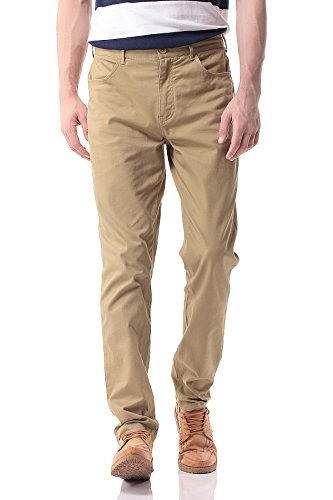 Pau1Hami1ton Herren Chino Hose, Stoffhose Aus Stretch Baumwolle Tapered Fit, PH-17(40, Khaki)