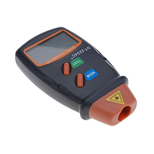 Preisvergleich Produktbild Professioneller Digital-Laser-Foto-Tachometer,  Digital-LCD-Laser-Foto-Drehzahlmesser Nicht Kontakt RPM Tachometer (Ohne Batterie)