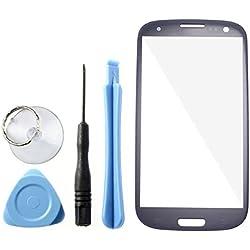 Pebble blue Ecran Vitre Externe Glass Pour Samsung Galaxy S3 GT-i9300 SIII + Outil Kit + boite + ruban adhésif