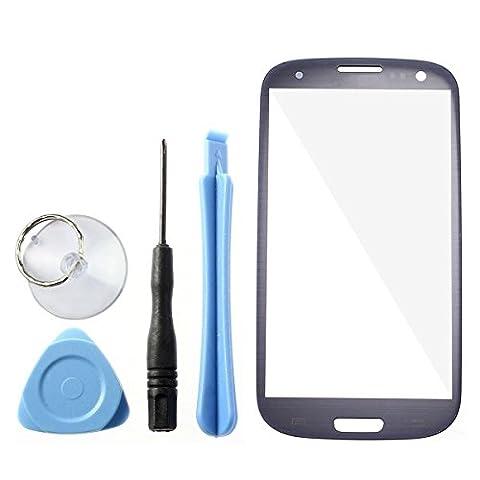 Pebble blue Ecran Vitre Externe Glass Pour Samsung Galaxy S3
