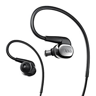 AKG N40 High-Resolution In-Ear Headphone with Customisable Sound - Black/Silver