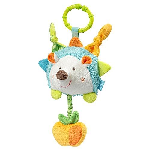 Fehn 071511 Activity-Spieltier Igel/Motorikspielzeug zum Aufhängen mit Spiegel & Vibrationsrassel zum Spielen, Greifen und Geräusche erzeugen/Für Babys und Kleinkinder ab 0+ Monaten