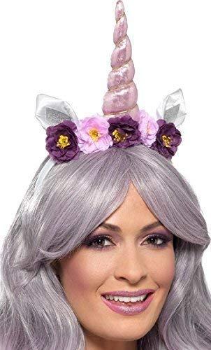 Fancy Me Damen Blumen Einhorn Tier Haare Haarband Mythisch Tier Karneval Festival Spaß Kostüm Verkleidung Zubehör (Mythische Tier Kostüm)