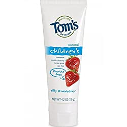 Toms Of Maine Natural Childrens Fluoride Free Toothpaste, Silly Strawberry 4.20 oz (Pack of 12)