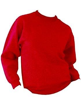 UCC 50/50 - Felpa Classica Tinta Unita - Uomo (5XL) (Rosso)