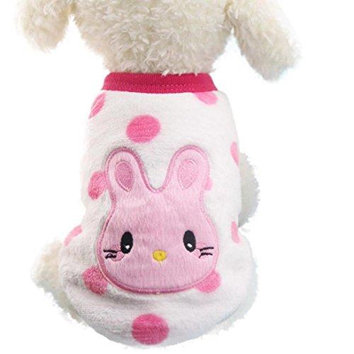 Ropa para Perros Amlaiworld Sudaderas Suéter para Perros Pequeños Cachorro Perritos Mascotas Caliente Suave Invierno Otoño (Rosa, XXS)