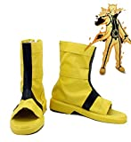Telacos Naruto Anime Uzumaki Cosplay Shoes Boots Made 9-Tails Chakra Mode for Men and Women (Yellow)