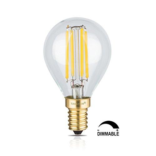 TAMAYKIM G45 4W Dimmerabile Antico Edison Stile Filamento Lampadina LED - 3000K Bianco Caldo 400 lumen - 4W equivalente a 40W - Attacco E14 - Globo Forma - 360° Angolazione Fascio Luce