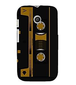 Cassette Player Design 3D Hard Polycarbonate Designer Back Case Cover for Motorola Moto E XT1021 :: Motorola Moto E (1st Gen)