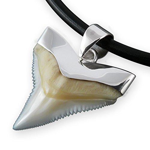 Fly Style Haizahn Ketten-Anhänger 925er Silber Haifisch-Zahn Surfer Herren Damen 19-27 mm pdsito01, Größe:23 - Für Männer Hawaii Halskette