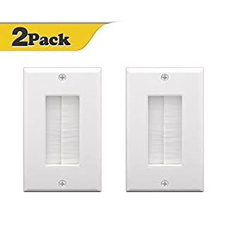VCE (2-PACK) Single Brush Wall Plate - White