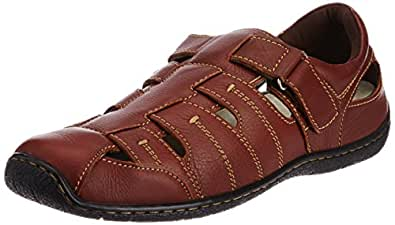 Hush Puppies Men's Oily Fisherman Brown Leather Sneakers - 7 UK/India (41 EU)(8544906)