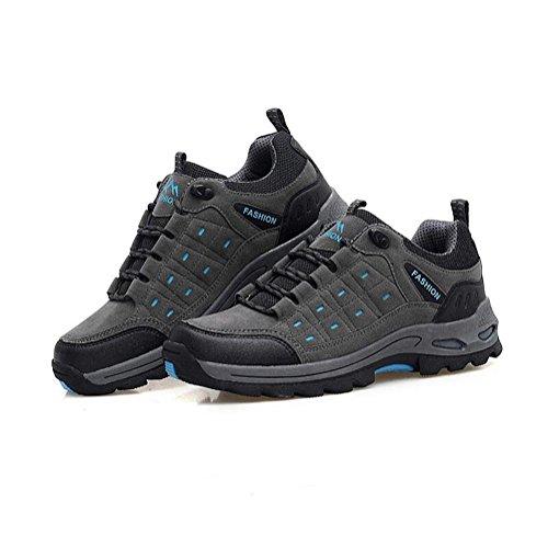 Suetar Scarpe da Trekking da Escursionismo Moda Uomo/Donna Scarpe da Arrampicata all'aperto Impermeabili e Antiscivolo e durevoli Light Blue