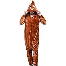 7ddaf60488 AIVTALK Damen Herren Lustig Kostüm Flanell Pyjama Schlafanzug, für  Halloween Fasching Kinderparty Karneval, Einteilig