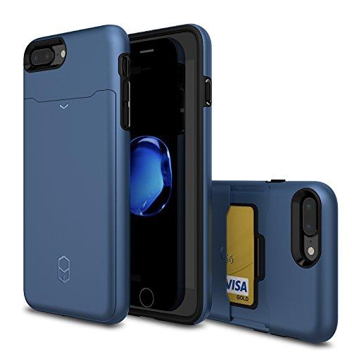 Patchworks Level Card Edition iPhone 8 Plus / 7 Plus Hülle für iPhone 8 Plus / 7 Plus Hülle, iPhone 8 Plus / 7 Plus Schutzhülle - Military Grade Certified Drop Protection, iPhone 8 Plus / 7 Plus Case, Navy