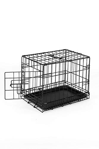 Dibea dc00490, gabbia di transporto pieghevole per cani cuccioli con 1 porta, taglia s (45 x 31 x 36 cm)