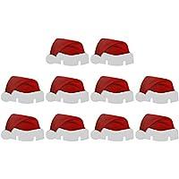 InnerSetting 10 Tarjetas de Navidad con diseño de Papá Noel y Gorro de Papá Noel, para decoración de Copas de Vino