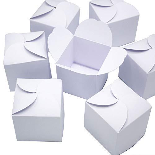 24 weiße Geschenkboxen I Do it yourself Adventskalender I Set kleine Schachteln für Weihnachten zum Basteln Befüllen Bemalen für Geschenke