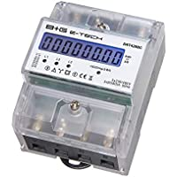 B+G E-Tech DRT428BC - digitaler Stromzähler Drehstromzähler Wattmeter für DIN Hutschiene, Energiemessgerät mit Wattanzeige 3x230/400V 20(80) A