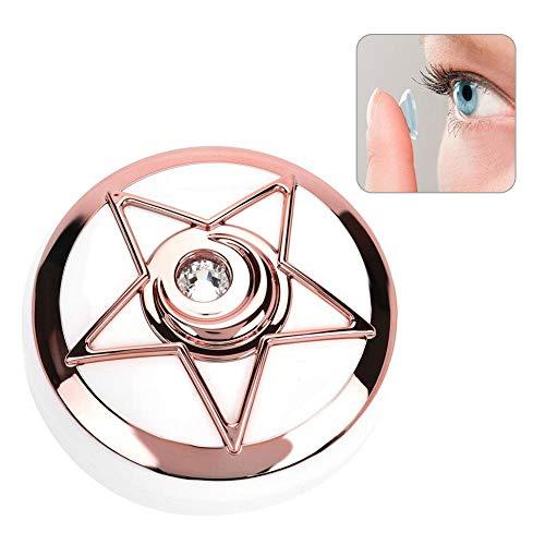 Schutzhülle für Contact-Linsen, unsichtbare Box für Brillen, Mate-Gehäuse, Tasche für Bella Box, komplettes Accessoires, Lustiges Feuer Pink