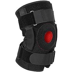 Knieorthese Unterstützung mit Scharnieren, Atmungsaktiv Offene Patella Stabilisator für Meniskus Tränen und Bandverletzungen, Einstellbar Knie Kompressions Ärmel für Laufen und Basketball