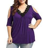 CICIYONER Camiseta Hombros Descubiertos Blusa Mujer Talla Grande Camisa Mujer Verano